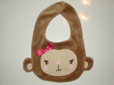 GYMBOREE MISCHIEVOUS MONKEY TAN FURRY BOW BIB NWT