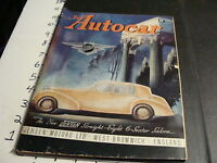 vintage THE AUTOCAR MAGAZINE--sept 5, 1947--Jensen straight eigh 6 seater cover