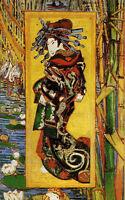 Oil painting Vincent Van Gogh - Oiran woman picture canvas