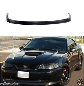FOR 99-04 FORD MUSTANG OE STYLE PU BLACK URETHANE FRONT CHIN BUMPER LIP SPOILER