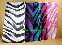 "Zebra Rectangular TABLE COVER 54"" X 108"" Medium Weight Plastic  Choose Color"
