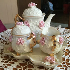 Lot Of 4 Piece Beautiful Vintage China Tea Set Alice In Wonderland Tea Party
