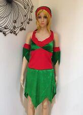 Sexy Elf Costume Santa's Helper & Hat Ladies Christmas Fancy Dress