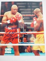 "George Foreman Red Trunks Boxing Authentic Signed 8"" x 10"" color Photo"