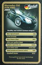 1 x single swap Top Trumps card car Mercedes CLK DTM AMG SC2