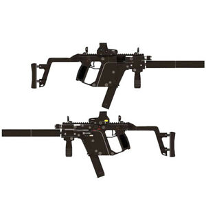 DIY 1:1 Scale KRISS Super V Rifle Gun 3D Paper Model Military Puzzle Cosplay Toy
