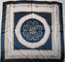 -  Foulard mi-mousseline  soie et viscose TBEG  vintage scarf  83 x 87 cm