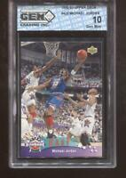 Michael Jordan 1992-93 Upper Deck #425 All-Star HOF Chicago Bulls GEM MINT 10