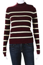 Etoile Isabel Marant Womens Long Sleeve Striped Crew Neck Sweater Red Size 40
