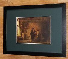 """Incorniciato 12"""" x16"""", REMBRANDT, BIBBIA dipinti, i comandanti dipinti, tobit e moglie"""