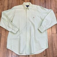 Ralph Lauren Men Large Mint Green Shirt Blake Button Down Long Sleeve Pony Logo