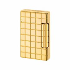 S.T. Dupont Golden Bronze Initial Ligne Quadrillage Lighter 20801  New In Box