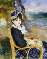 By the Seashore Painting by Auguste Renoir Art Reproduction