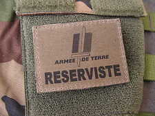 "SNAKE PATCH "" Armée de Terre RESERVISTE "" BASSE VISIBILITE KAKI OTAN félin FMIR"