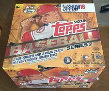 TOPPS 2016 series 2 baseball JUMBO box SEALED NEW