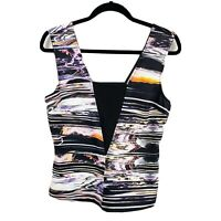 Portmans Women's Size 10 Multicoloured Sleeveless Top Blouse