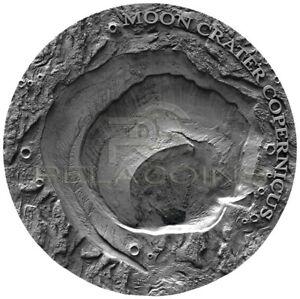 Niue Island 2019 1$ Moon Crater Copernicus NWA 8609 Meteorite 1oz Silver Coin