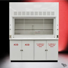 ..SIX FOOT Chemical Laboratory Fume Hood w/ Flammable Acid Storage Cabinets -