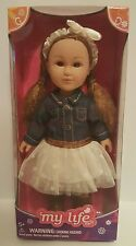 """7"""" My Life As COWGIRL Girl Mini Doll Blue Jean Brown Offwhite NEW"""