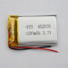 3.7v 200 mah Polymer Li battery pack 402030 for Mp3 watches headset record pen