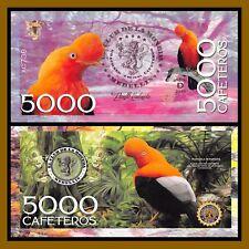 """El Club De La Moneda 5,000 Cafeteros, 2016 """"D"""" Series Tunki Bird Unc"""