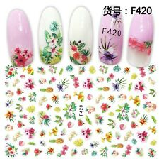 Nail Art Stickers Transfers Flowers Pineapples (F420)
