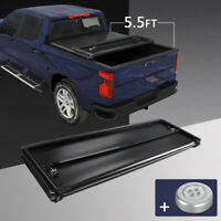 "Soft Tri-Fold Tonneau Cover For 2004-2014 Ford F150 With 5.5 Ft 66"" Bed Crew Cab"