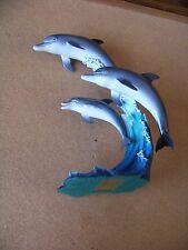 The Danbury Mint Riding the Wave Dolphins figurine statue dolphin Mike Atkinson