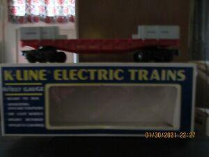 (2) K-Line Santa Fe Rail Cars  O/O-27 Gauge 6629 & 6856 in box!