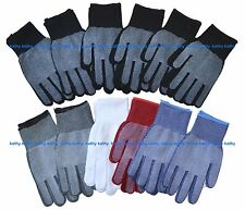 12 Pairs Gripper NON-SLIP GRABBER PALMS Garden Knit Gloves Work Sports New York
