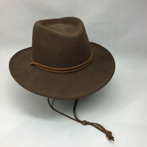 Lite Felt Brown Crushable Packable WOOL Hat Water Repellant Made In USA XL