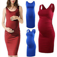 Plus Size Summer Maternity Dress Clothes Pregnant Women Pregnancy Clothing