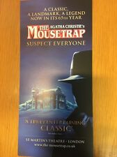 Agatha Christie's The Mousetrap St Martins Theatre London LEAFLET FLYER NEW