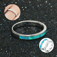 925 Silver Fire  Women  Engagement  Wedding  Opal  Ring  Exquisite  Jewelry