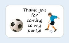 20 thank you for coming x football stickers Favour party bag birthday labels