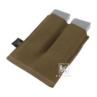 KRYDEX Double 9mm Open Top Mag Pouch Tactical Magazine Case MOLLE Coyote Brown