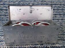 """Vari-Flare""  antique automobile emergency reflectors/metal case vintage 1950's"