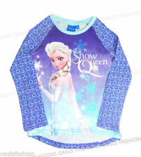 T-shirts, hauts et chemises bleu Disney pour fille de 2 à 16 ans en 100% coton