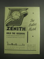 1953 Zenith Watches Ad - The Better Watch