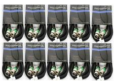 10 Stück 5m XLR Audiokabel symetrisches Mikrofonkabel XLR Kabel auch für DMX