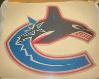 "Vancouver Canucks Orca Logo Iron On Heat Transfer Colored Glitter 9""x9"" NHL"