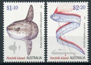 Norfolk Island Fish Stamps 2020 MNH Ocean Oddities Sunfish Oarfish Fishes 2v Set