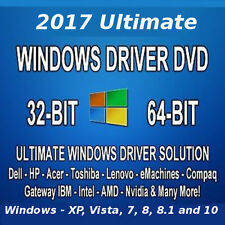 2017 Drivers DVD for Windows 7 8 10 on Dell HP Lenovo Acer Toshiba PCs