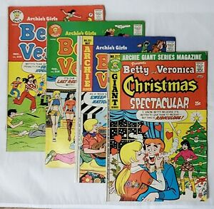 Archie's Girls: Betty and Veronica Comic Book Lot of 4