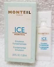 Monteil Paris ICE Fundamental Emulsion Travel Sample Size .04 oz/1.18mL New RARE