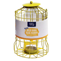 Squirrel Proof Bird Feeder Seed Nut Fat Ball Feeding Station Guard Wild Bird