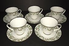 Noritake Holly & Berry Gold Cup and Saucer New