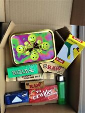 THE COMPLETE SMOKING BOX - Papers Tips Tin Lighter Rolls & More! -Rapid Despatch