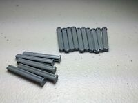 *NEW* Authentic LEGO  Dark Bluish Gray Technic Axle Size 4 with Stop (x15)