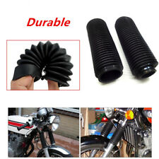 2pc Length 360mm Fork Dust Covers Boots Shock Rubber Fit Motorcycle Dirt Bike